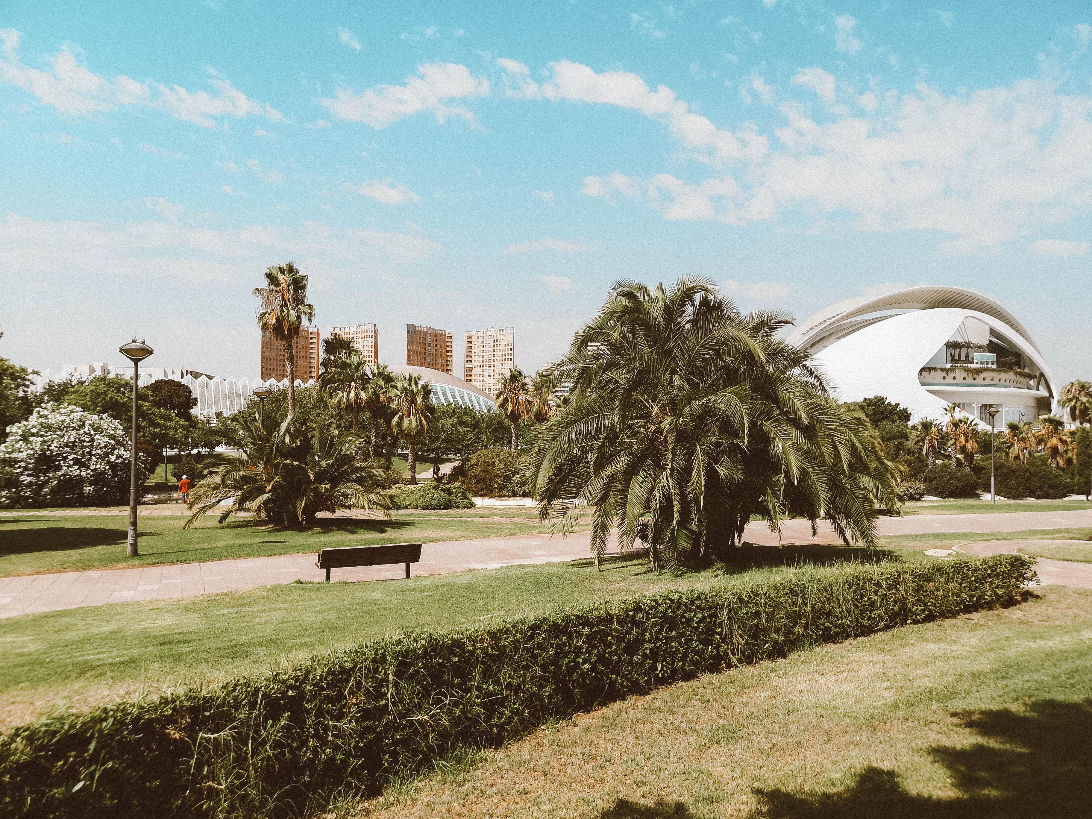 Jardim do Túria, zona paralela à Cidade das Artes e das Ciências   Foto: Wander Life Blog